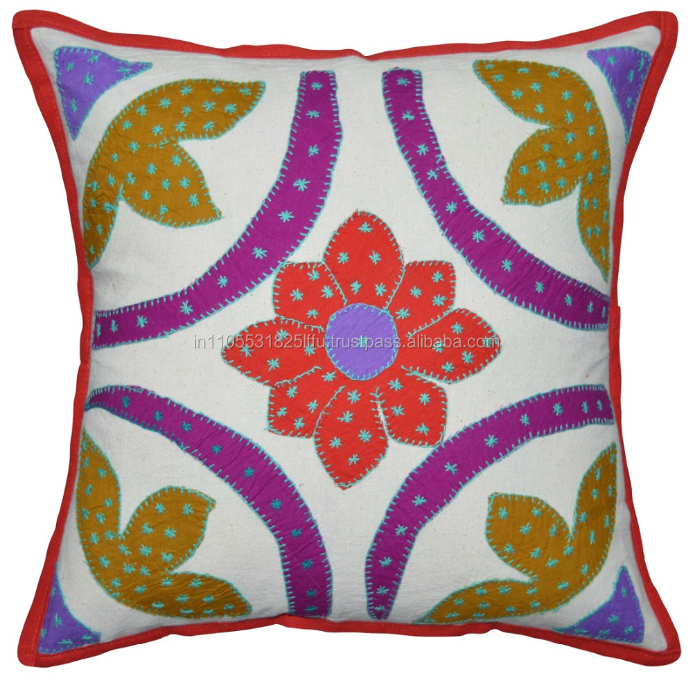 Cushion Cover Set Embellished with Jogi Embroidery Work