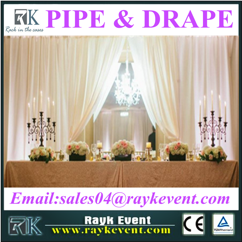 High quality pipe and drape wedding flower backdrop/pipe and drape kits for sale
