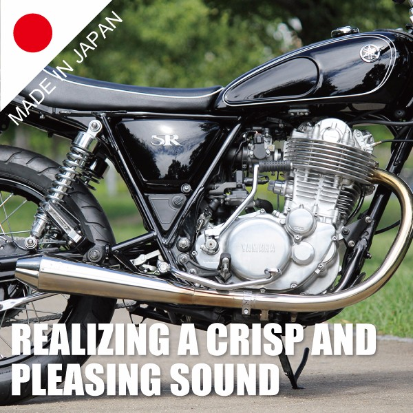 Original design and Popular motorcycle exhaust muffler for GRASSTRACKER with high-precision made in Japan