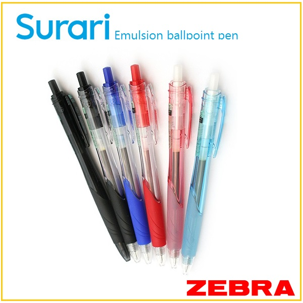 Surari , ZEBRA 0.7mm smooth emulsion ink ballpoint pen , Japanese products stationery