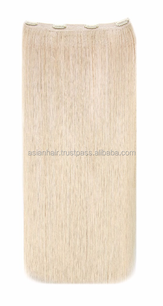 Alibaba Top Grade High Quality Natural Virgin Human Clip in Hair extensions Tangle Free