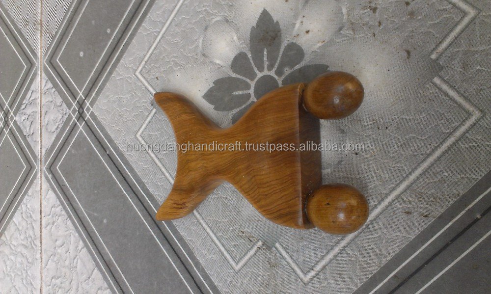 Relaxing with wooden massage, useful handmade product for exporting