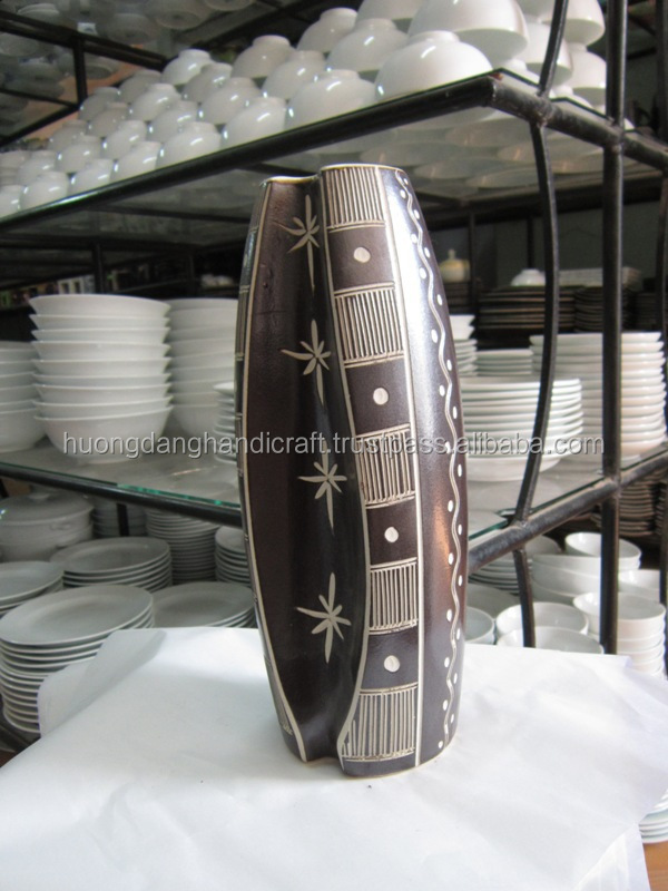 Unbeakable with wonderful design ceramic vases for decoration, gift, souven (Skype: huongdanghandicraft.com.ha)