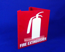 Red Acrylic Fire Extinguisher Sign Board