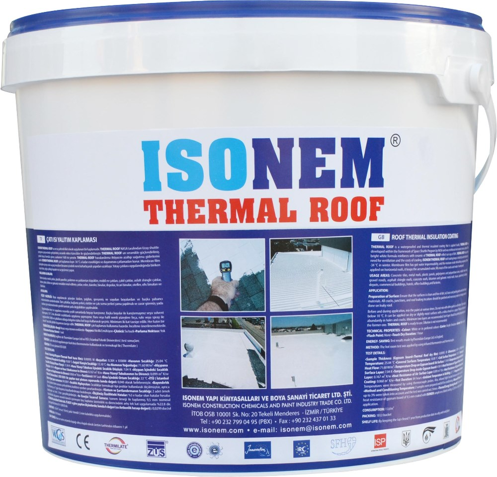 ROOF THERMAL INSULATION COATING, ENERGY SAVING ECOLOGICAL ROOF PAINT