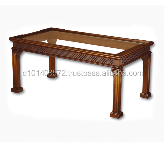 Mahogany Coffee Table Glass 110 Indoor Furniture.