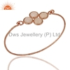 Rose Chalcedony Gemstone Bangle Wholesale 925 Silver Rose Gold Plated Bangles Manufacturer of Party Wear Jewelry