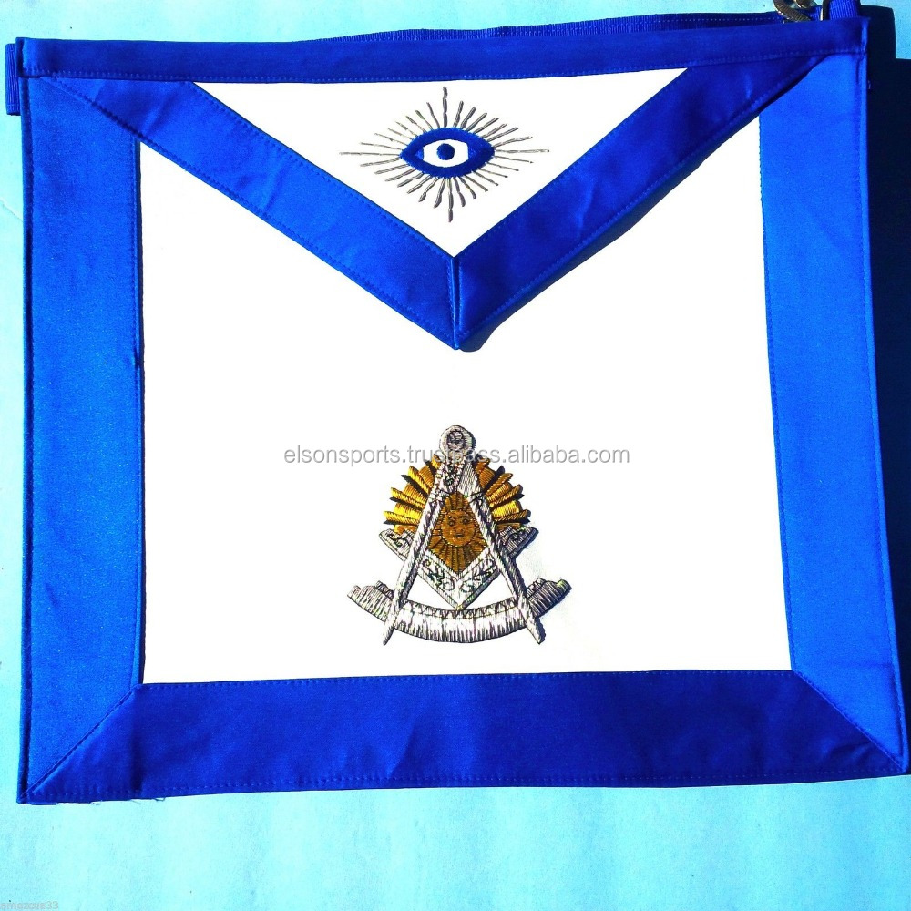 Masonic blue lodge master mason MM apron