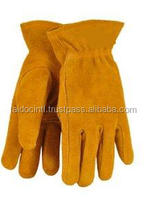 Kids Leather Work Gloves for 7-11 years Old, Brown Cheap Leather Working Gloves