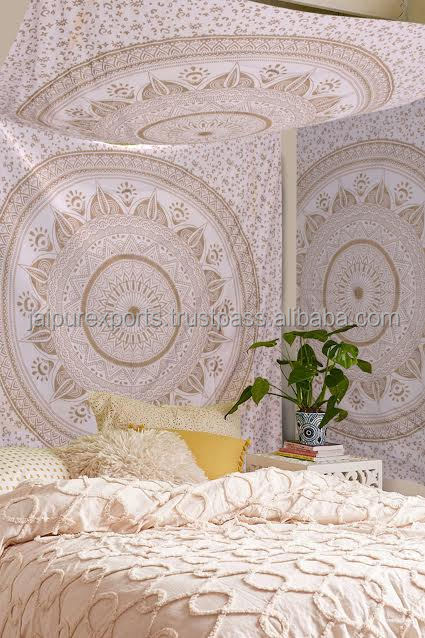 Wholesale Fabric Gold Color Queen size tapestry