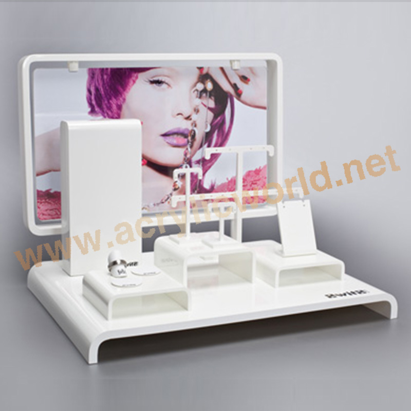 Large acrylic body piercing jewelry display stand