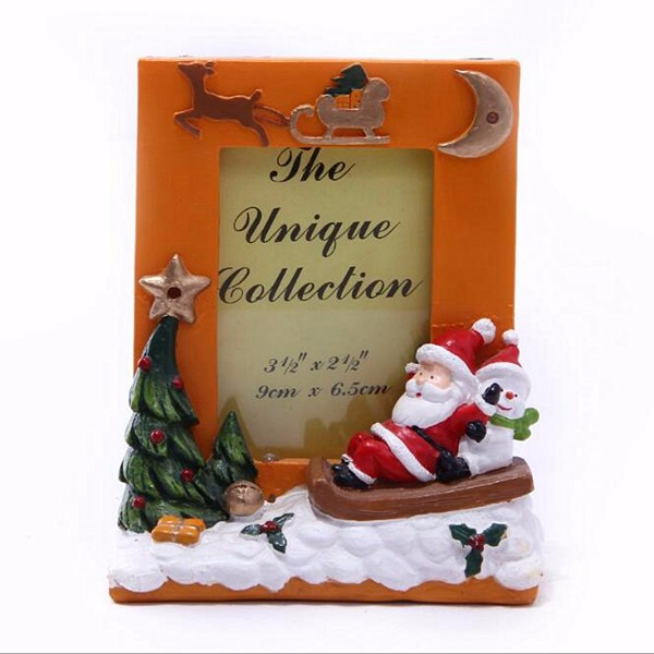 Christmas snow man resin santa claus photo frame for sale