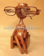 Wooden Doll (Lady) Spectacle Glasses Holder Specs Stand Handicrafts/ Beautiful Home And office Decor Wooden Doll Statue