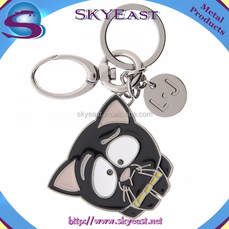 Special Style Enamel Metal Charms with High Quality Keychain Ring