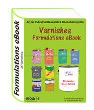 Varnishes Manufacturing Formulations eBook 25 formulation in eBook42 of JTIRC