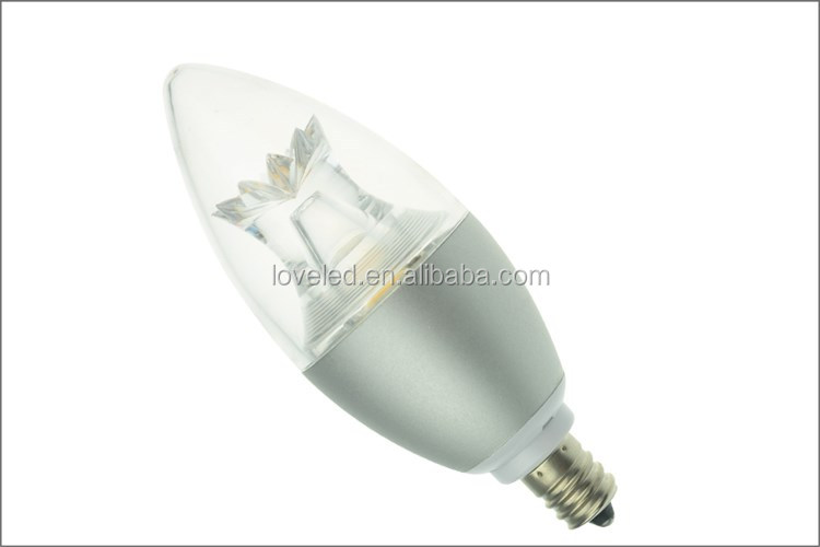 E14 E27 E12 50W Equivalent COB LED Candle Light Cold Forging Aluminum PC with 3 Year Warranty