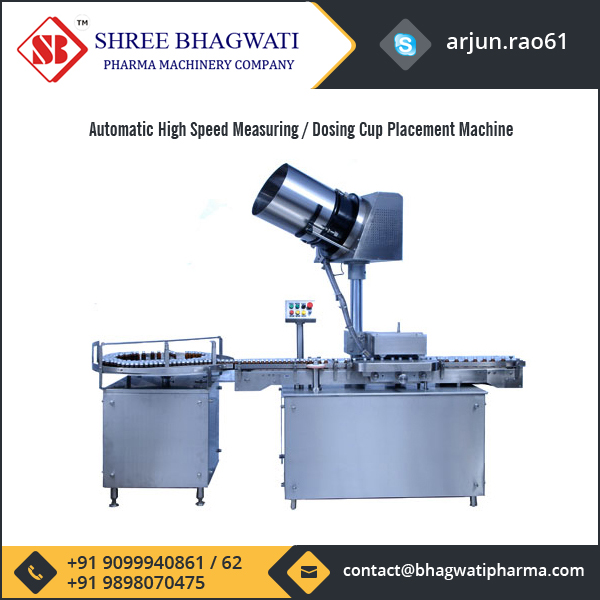 Automatic High Speed Measuring / Dosing Cup Placement Machine