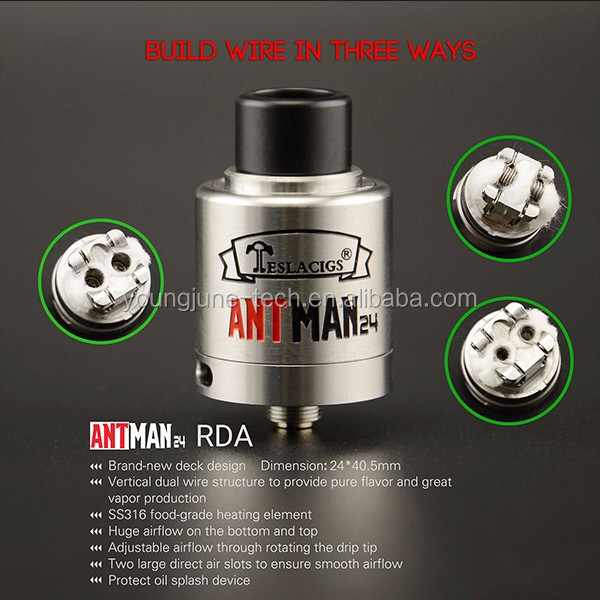 The popular atomizer Teslacigs clapton RDA Tank fit for invader III