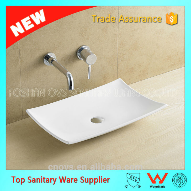 ceramic semi recessed wholesale big size basins