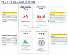 Vietnam high-quality wheat flour with competitive price from the Vietnamese biggest and most famous factory