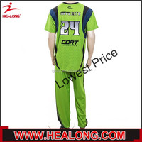 long sleeve crewneck green soccer uniforms from china