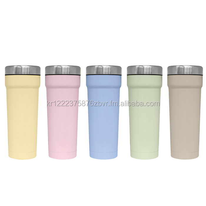 TEASCAFE Double Wall Stainless Steel Vacumm Presso Tumbler with One-touch Lid / 15oz(440ml) / Custom logo design