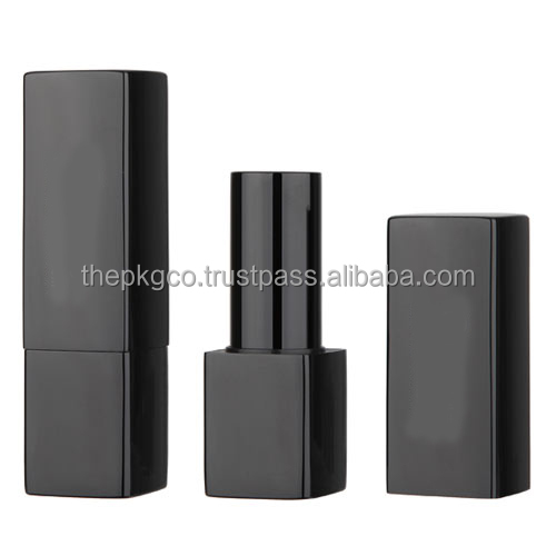 Square aluminum lipstick tube with magnetic closure (257MA-BL7132)