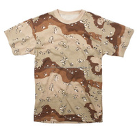 Cotton made T-shirt in digital desert camo camouflage clothing/100% cotton desert camouflage wholesale military t shirt