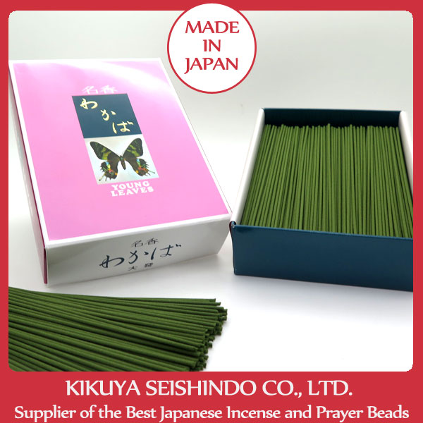 Japanese incense sticks, Meiko Wakaba Young Leaves, Big Economical Bulk Pack, Daihatsu