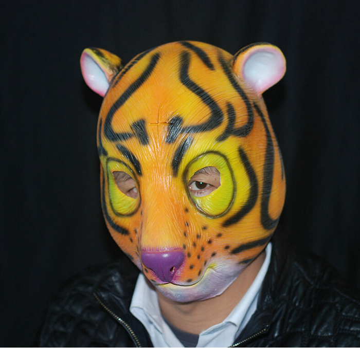 Tiger Rubber Horror Scary Latex Disguise Scary Face Mask Latex Horse Mask Prosthetic Masks Maski
