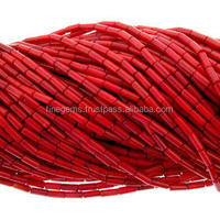 New arrival Natural Red coral Tube Shape Beads best price coral necklace