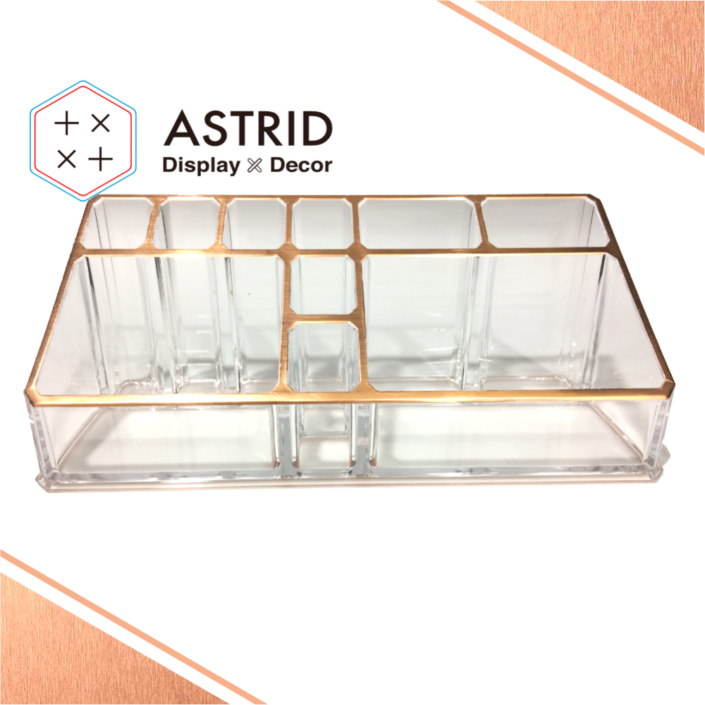 Beauty clear acrylic cosmetic makeup organizer buy - Boite rangement plexi transparent ...