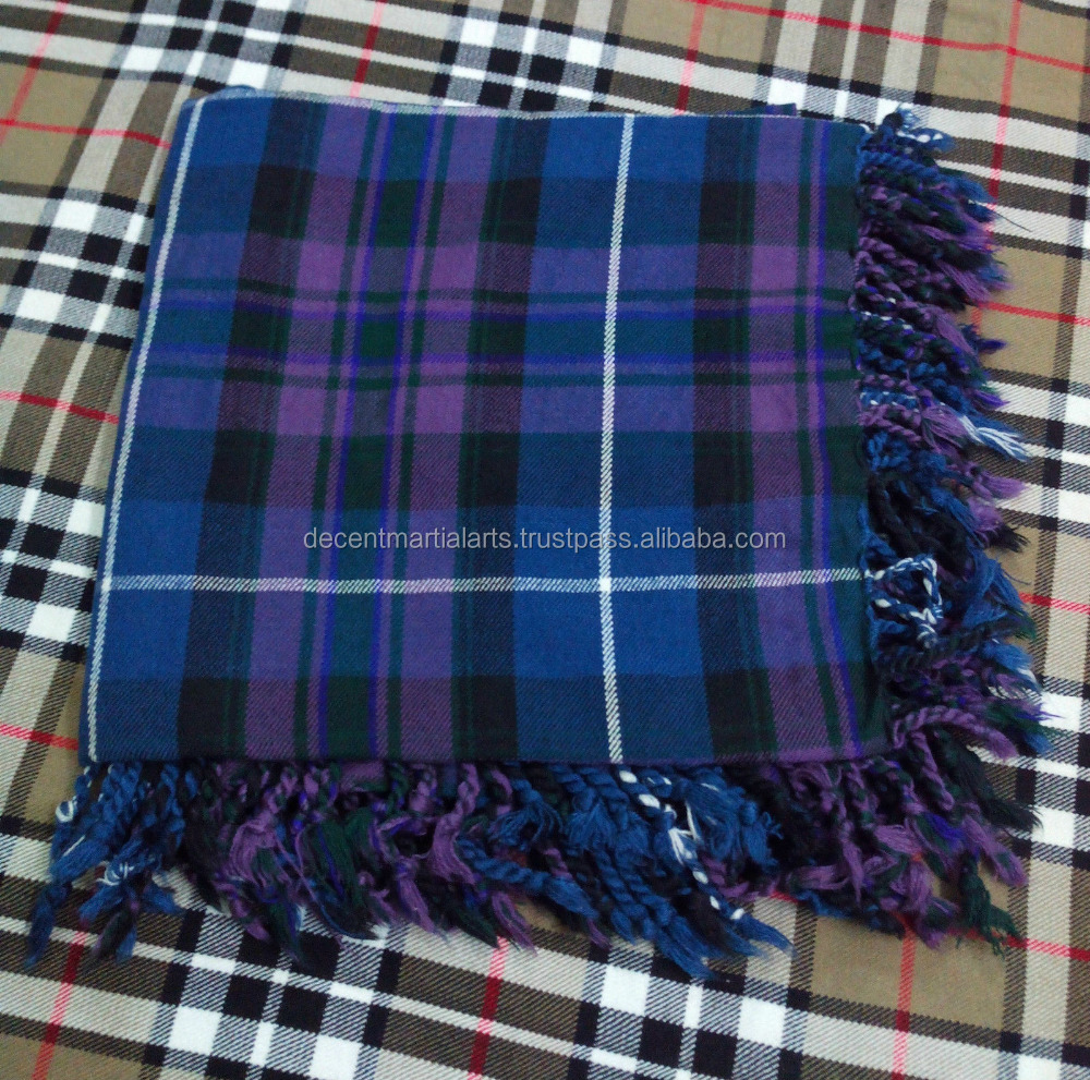 Pride of Scotland Tartan Drummer Shawl Fly Plaid For Kilt
