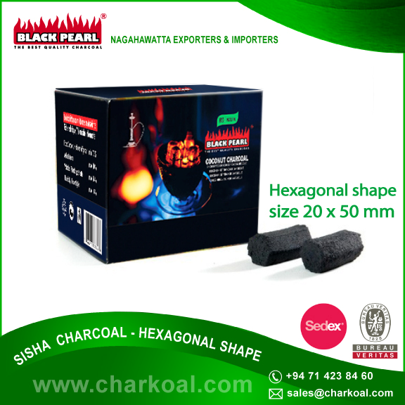 Branded Hexagon Briquette Charcoal by Reputed Exporter