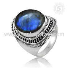 Flamboyant Labradorite Jewelry Natural Gemstone Silver Engagement Ring 925 Sterling Silver Jewelry Wholesale