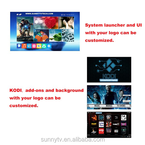 SunnyTV Q8S amlogic s912 Octa core tv box andorid 6.0 kodi stream media bluetooth AC wifi 1000 Ethernet s912 box