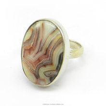 Handmade Designer Jewelry - Crazy Lace Agate Gemstone Ring - 925 sterling silver Ring - SIRG1085