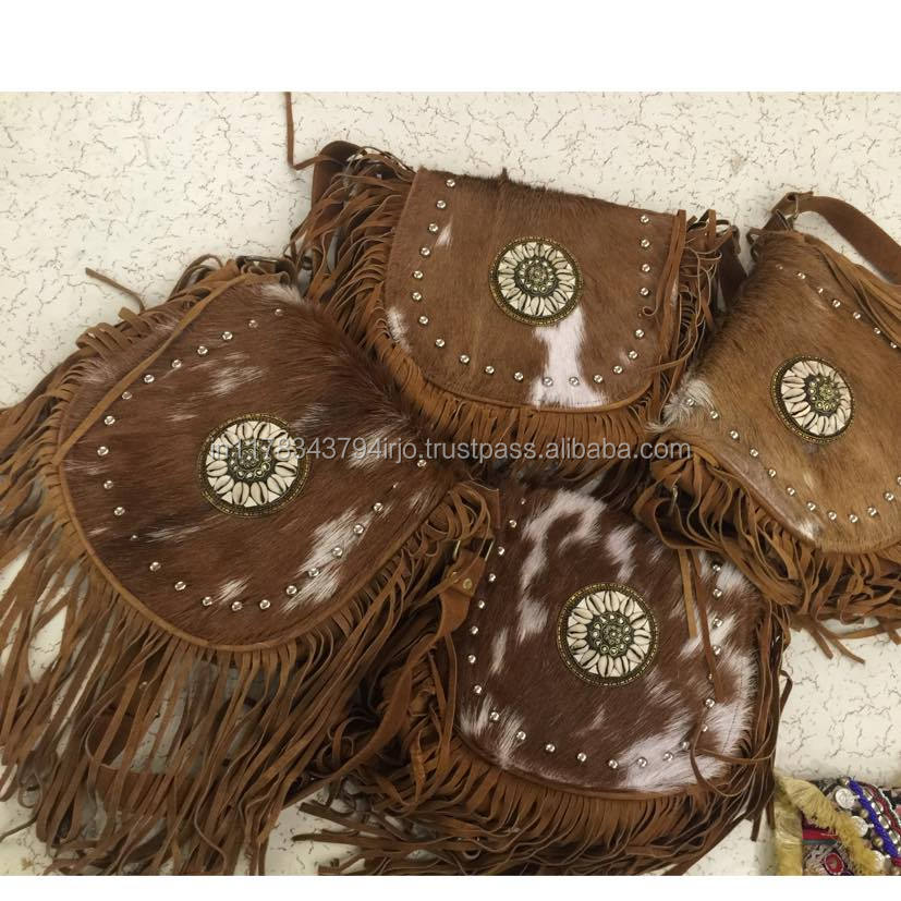 TRADITIONAL INDIAN VINTAGE BANJARA HANDICRAFT LATEST TOTE DESIGNED FUR LEATHER GYPSY BOHO BAG