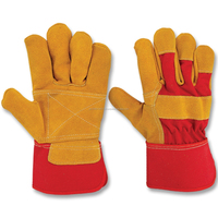 Real cow split 707 working leather gloves