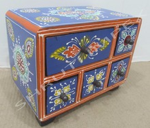 HANDCRAFTED BOX WOODEN PAINTED BOX WITH GREAT INDIAN TRADITIONAL RANGOLI DESIGN FOR HOME DECOR AND GIFT SIB-9B