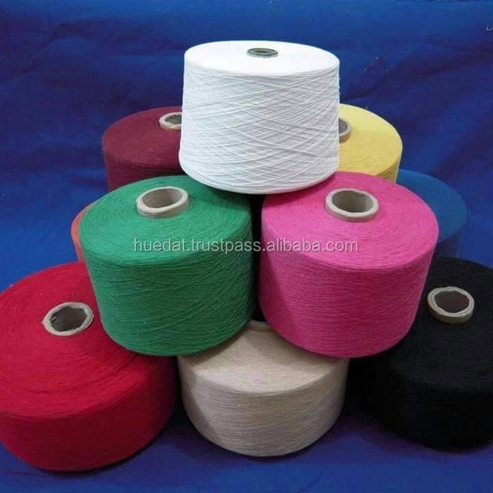 Recycled cotton yarn for mops, 65/35 polyester cotton yarn, colored cotton polyester blended yarn