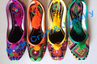 2015 Beaded Embroidered (Khussa) Shoes - Ladies Beaded Shoes Khussa - fancy Indian juti - Wholesale Pakistani khussa