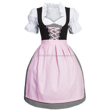 New Style German,Springfest,Trachten,Oktoberfest,Halloween, New Style German Dirndl,3-pcs pink dress12