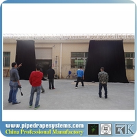 energy saving full color hd led video display screen motorized stage curtains
