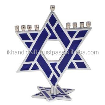 start Jerusalem rasin finish MENORAH candle holder menorah