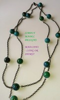 Long Chained or Double strand Necklaces made from Semi precious stones