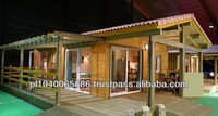 Eco-friendly prefabricated wooden frame house 33 s.m.