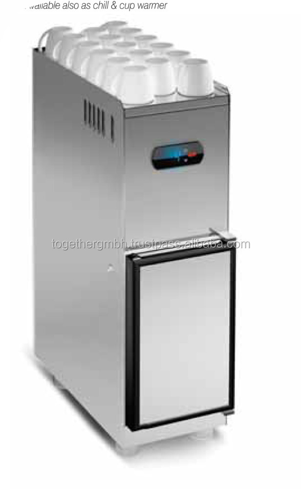 milk cooler for commercial coffee machines vending machines with separate 8 liter milk container with cooling compressor