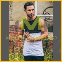 wholesale cheap screen printing pocket tank top for men