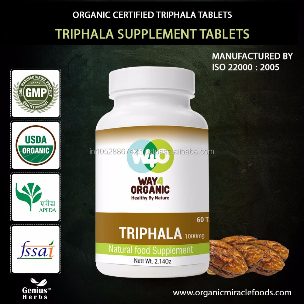 The Best Quality Genuine Ayurvedic Triphala Tablet For Bulk Export